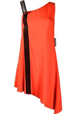 Roberto Cavalli Mujer Cóctel - Vestido asimétrico con detalle de malla