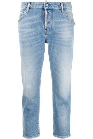 Dsquared2 Jeans capri con parche del logo