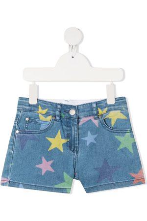 Stella McCartney Shorts de mezclilla con motivo de estrellas