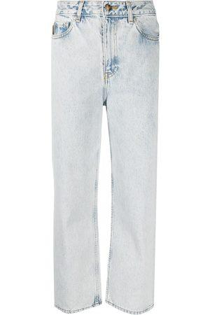 Ganni Jeans capri con tiro alto