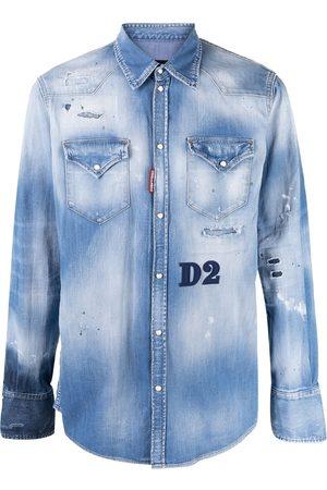 Dsquared2 Camisa de mezclilla con efecto envejecido
