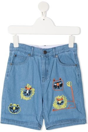 Stella McCartney Bermudas con bordado de gatos