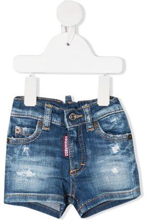 Dsquared2 Pantalones vaqueros cortos con efecto envejecido