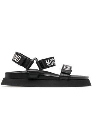 Moschino Sandalias con franjas del logo
