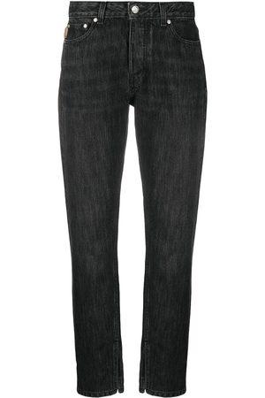 Ganni Logo-print straight-leg jeans