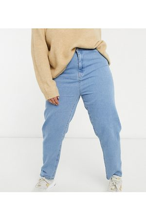 Wednesday's Girl Mom jeans in light wash