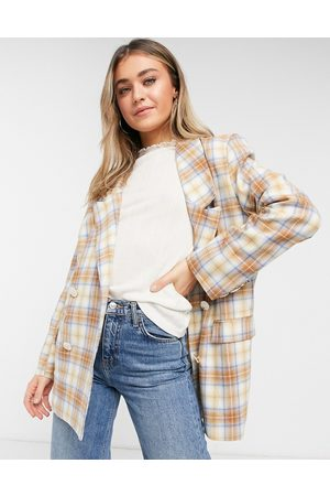 Daisy Street Relaxed blazer in vintage check co