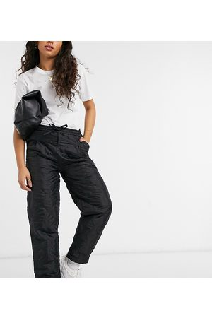 Native Youth Relaxed trousers in black quilting