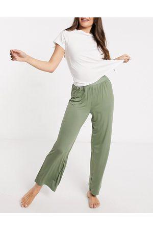 ASOS Mix & match soft pyjama trouser with elastic waistband in khaki