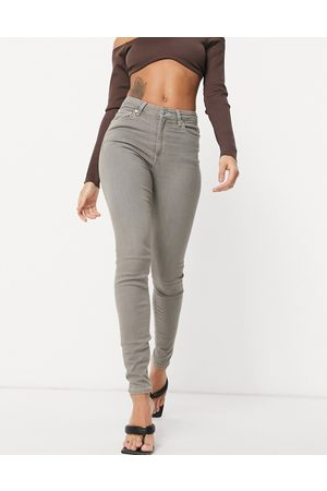 ASOS High rise ridley 'skinny' jeans in grey