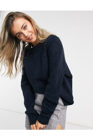 ASOS Oversized jumper with crew neck in navy