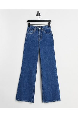 Cotton On Wide leg jeans in mid wash blue