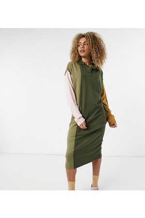 COLLUSION Maxi knitted rugby dress