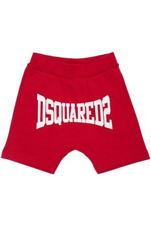 Dsquared2 Shorts Deportivos De Algodón Con Logo Estampado