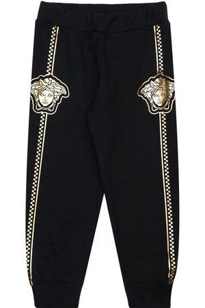 VERSACE Pantalones Deportivos De Algodón Con Estampado