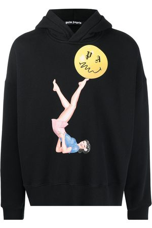 Palm Angels JUGGLER PIN UP HOODY BLACK PINK