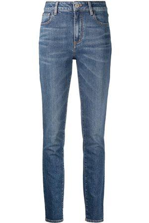 The Attico Jeans slim con tiro alto