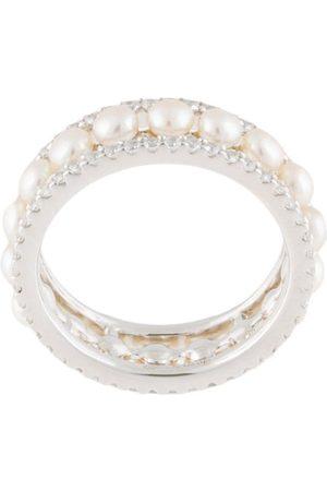 APM Monaco Mujer Anillos - Anillo con detalle de perlas artificiales