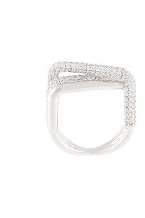 APM Monaco Anillo con detalles de cristales