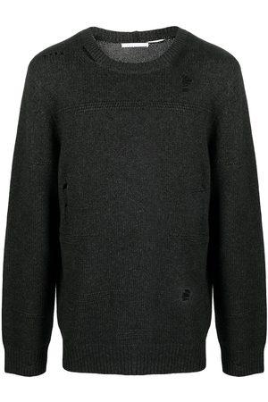 Helmut Lang Suéter tejido con detalles rasgados