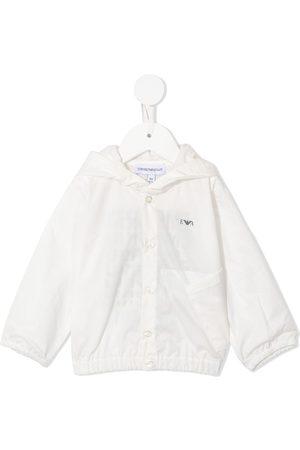 Emporio Armani Kids Chamarra con capucha y logo estampado