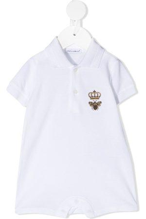Dolce & Gabbana Body con bordado de abeja y corona