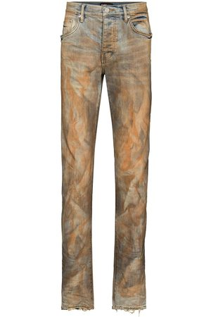 Purple Brand Hombre Skinny - Two-tone faded effect jeans