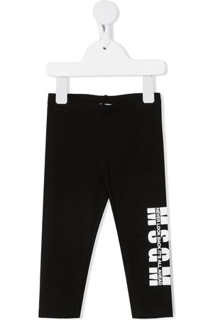 Msgm Leggings y treggings - Leggins con logo estampado