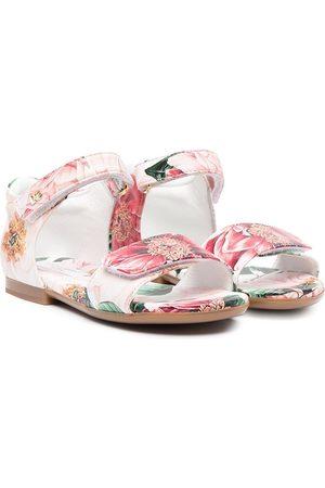Dolce & Gabbana Sandalias con motivo floral y cierre autoadherente