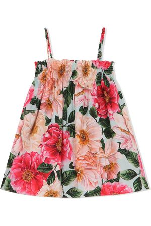 Dolce & Gabbana Niña Estampados - Floral-print sleeveless dress