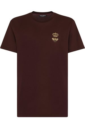 Dolce & Gabbana Hombre Playeras - Camiseta con parche de corona
