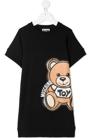 Moschino Bear logo print T-shirt dress
