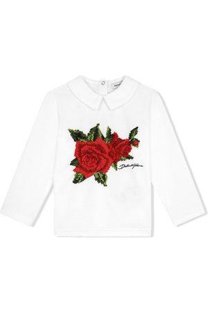 Dolce & Gabbana Blusa con bordado de rosas