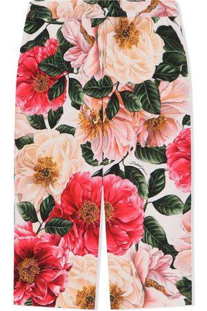 Dolce & Gabbana Pantalones anchos con motivo floral