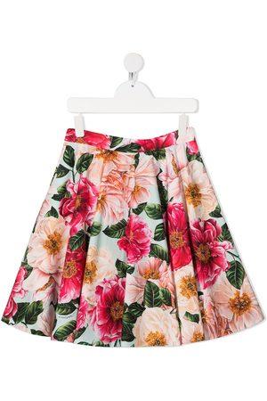 Dolce & Gabbana Floral-print flared skirt