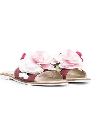 MONNALISA Sandalias con aplique floral