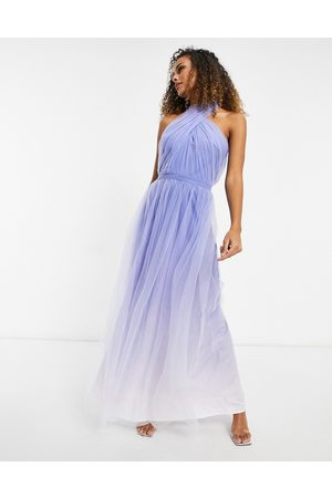 chi chi london Mujer Casuales - High neck ombre maxi dress in blue
