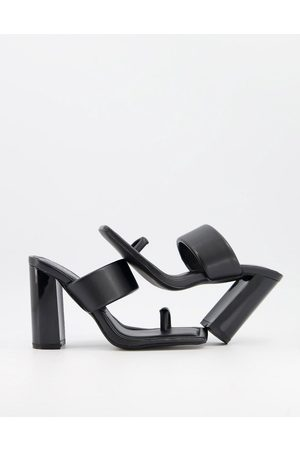 SIMMI Shoes Simmi London Tour padded mules with toe loop in black