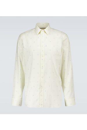 Gucci Symbols fil coupé Oxford shirt