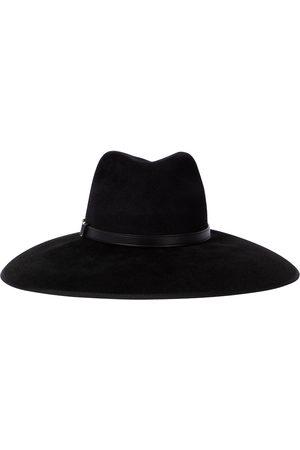 Gucci Horsebit leather-trimmed felt hat