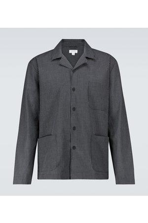 Sunspel Hombre Pijamas - Cotton long-sleeved pajama shirt
