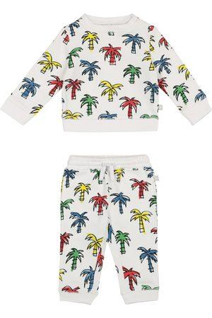 Stella McCartney Baby palm-print organic cotton sweatshirt and shorts set