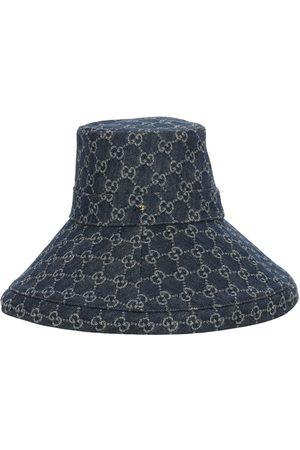 """Gucci Mujer Sombreros - Sombrero De Denim Con Logo """"gg"""""""