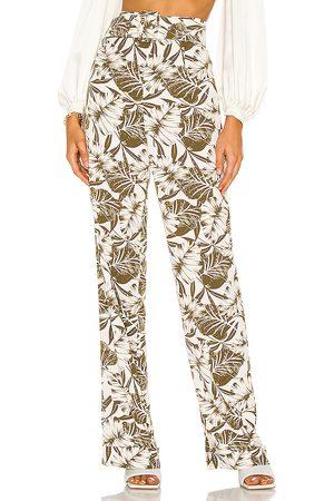 Bronx and Banco Mujer De vestir - Pantalones en color blanco, verde talla L en - White,Green. Talla L (también en M, S, XS).