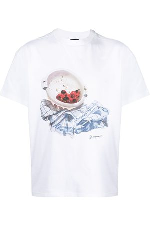 Jacquemus Hombre Playeras - Graphic print short-sleeved T-shirt