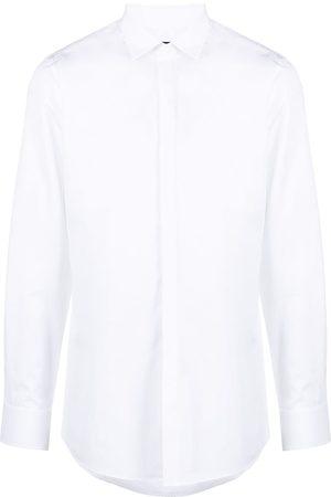 Dsquared2 Camisa lisa con botones ocultos