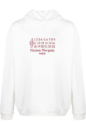 Maison Margiela Embroidered-logo long-sleeve hoodie