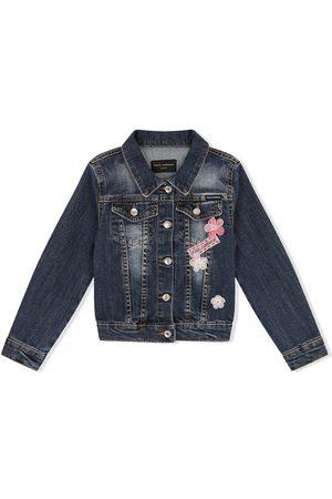 Dolce & Gabbana Floral-embroidered denim jacket