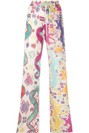 Etro Pantalones anchos con motivo geométrico
