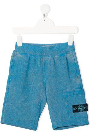 Stone Island Pantalones cortos de deporte con parche del logo